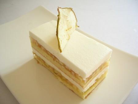 Gateau marron chocolat blanc