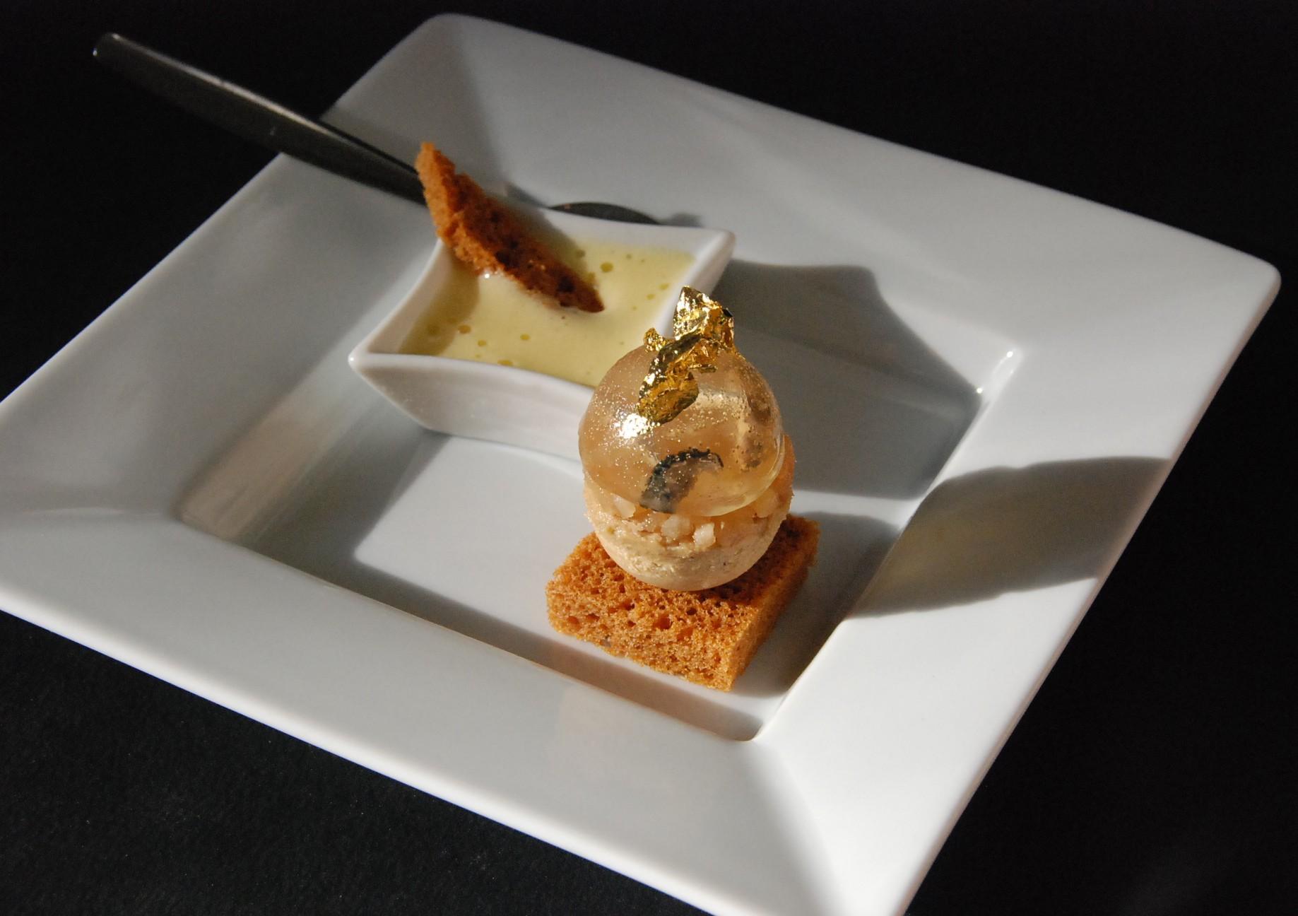 Retour sur la recette du concours champagne et notre - Decoration assiette de foie gras photo ...