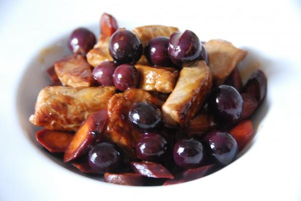 Sauté de veau muscat et carottes violettes 009