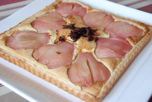 tarte aux poires et crème d'amandes 005