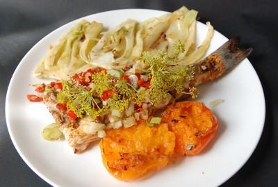 Bar anisé et légumes au grill 9