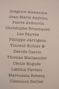 Coch coch liste artistes(15)