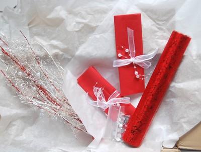 la box rouge passion et blanc telle qu'on la reçoit