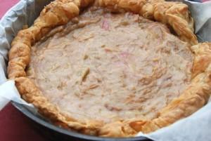 Tarte à la rhubarbe crème amandes (4)