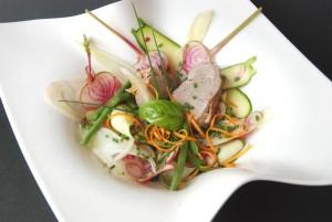 Porc cuit au lait légumes croquants (6)