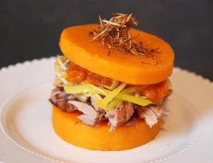 Burger de butternut, canard (2)