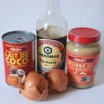 poulet sauce cacahuète, légumes au wok (1)