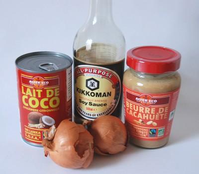 Poulet sauce cacahu te et l gumes au wok avec alter eco for Marinade poulet huile d olive