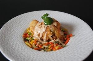 poulet sauce cacahuète, légumes au wok (3)
