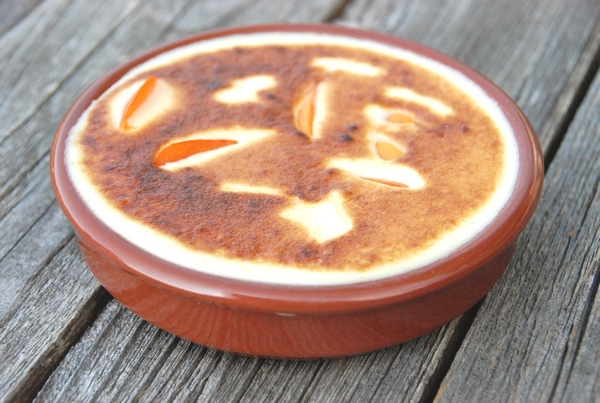 Crème de citron et abricots rôtis