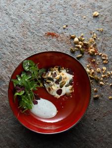creme_saint-agur_cranberries_graines_mesclun_herbes_sauvages